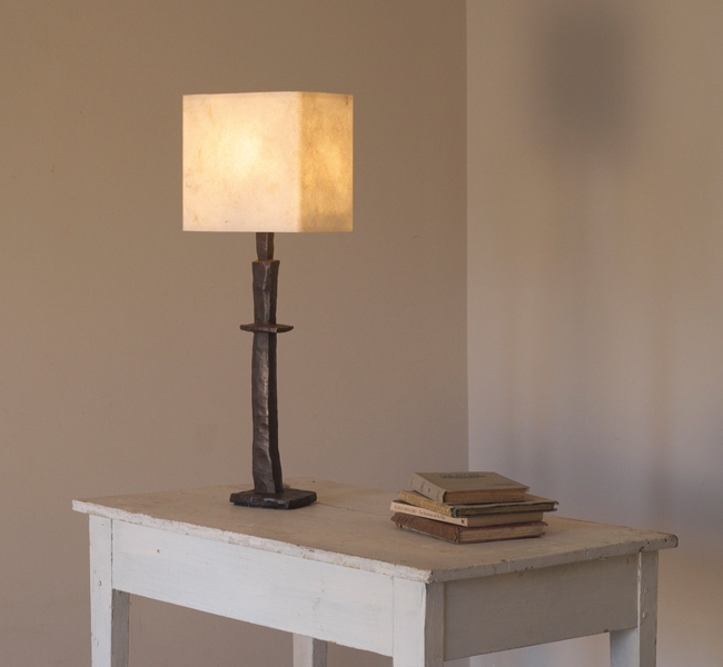 Contemporary Bronze Table Lamp, inspired by the work of Anthony Gormley and Alberto Giacometti hence it