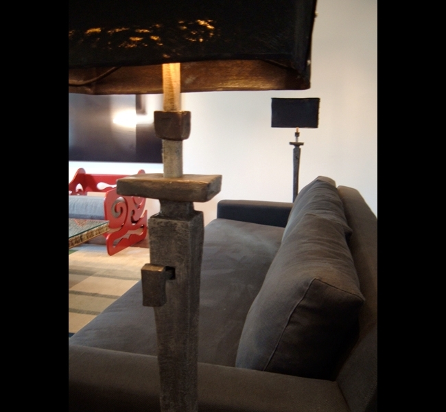 Elegant and timeless bronze floor lamps by artist and lighting designer Hannah Woodhouse.