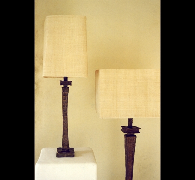 Heairly etched and textured bronze makes these floor and table lamps a beautiful addition to the most elegant interior, made by artist Hannah Woodhouse.
