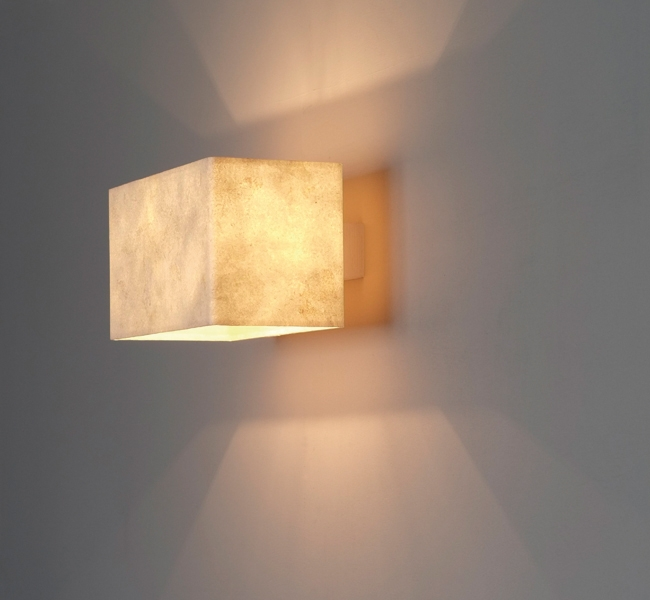 Floating Shade, magical and wonderful wall applique, wall light, which seems to float magically away from the wall.  Designed especially for super yacht Inukshuk, commissioned by Adam Lay Studio.