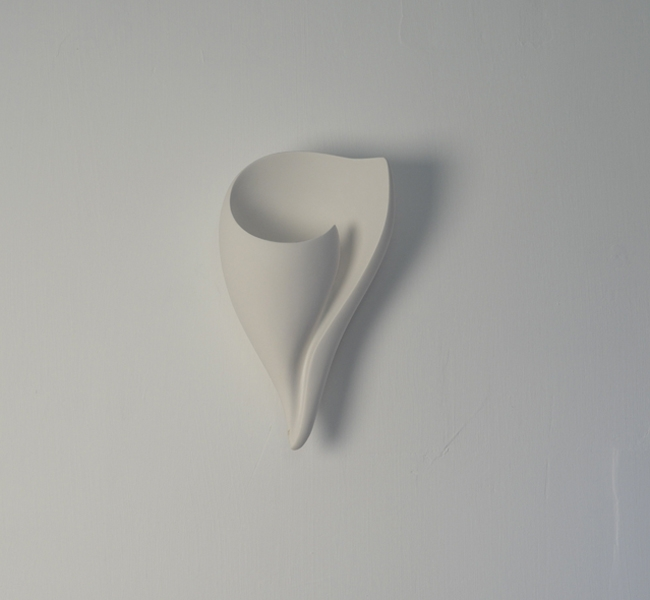 Stunning Wall Applique, Wall Light in hand sculpted white plaster, shell wall light, Shell Wall Applique, Shell Applique Murale, by Hannah Woodhouse.